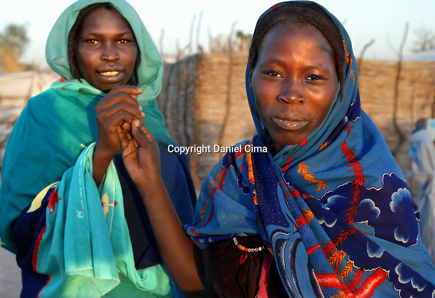 Sudanese refugees living in seven different camps across the border into Chad..In the northeaster part of Chad more than 450.000 displaced men, women and children have found refuge in this dry, harsh environment. .This has been the direct result of ethnic cleansing and political persecution in Darfur