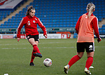 Keri Matthews of Sheffield Utd warm up during the The FA Women's Championship match at the Proact Stadium, Chesterfield. Picture date: 8th December 2019. Picture credit should read: Simon Bellis/Sportimage