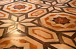 Marble floor in St Lawrence Cathedral in Genoa, Italy