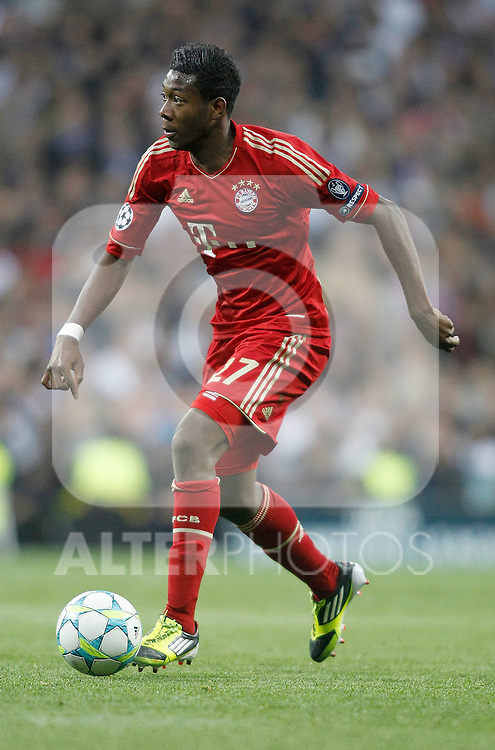 Bayern Munich's David Alaba during UEFA Champions League match. April 25, 2012. (ALTERPHOTOS/Alvaro Hernandez)
