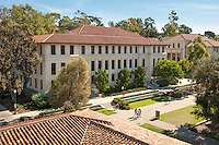 Occidental College, view of Johnson Hall from the JSC bell tower, November 4, 2010, Los Angeles. (Photo by Marc Campos, College Photographer)