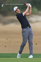 Ashley Chesters (ENG) on the 3rd fairway during Round 1 of the Omega Dubai Desert Classic, Emirates Golf Club, Dubai,  United Arab Emirates. 24/01/2019<br /> Picture: Golffile | Thos Caffrey<br /> <br /> <br /> All photo usage must carry mandatory copyright credit (&copy; Golffile | Thos Caffrey)
