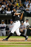 August 7, 2009:  Right Fielder Jermaine Dye (23) of the Chicago White Sox at bat during a game vs. the Cleveland Indians at U.S. Cellular Field in Chicago, IL.  The Indians defeated the White Sox 6-2.  Photo By Mike Janes/Four Seam Images