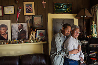 Thomas (T) and Joanne. Evicted from their Lyon Park home after 16 years. Their house was bought to be redeveloped. Gentrification in Durham, NC on Friday, February 17, 2017. (Justin Cook)