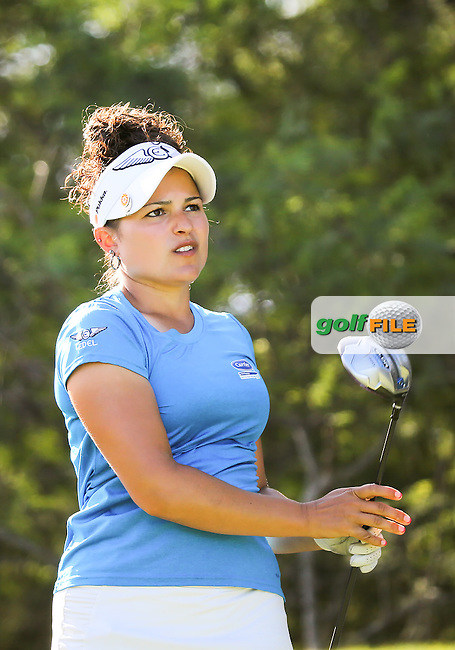 16 APR 14 West Hartford Connecticut's Natalie Sheary coming off a great career at Wake Forest during Wednesday's windy opening Round of The Lotte Championship at Ko Olina Golf Club in Kapolei, Hawaii. (photo credit : kenneth e. dennis/kendennisphoto.com)