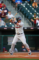 Pawtucket Red Sox first baseman Allen Craig (5) at bat during a game against the Buffalo Bisons on August 28, 2015 at Coca-Cola Field in Buffalo, New York.  Pawtucket defeated Buffalo 7-6.  (Mike Janes/Four Seam Images)