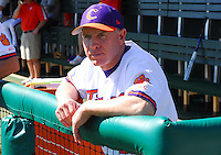 Clemson head coach Jack Leggett prior to a game between the Clemson Tigers and USC Gamecocks on March 2, 2008, at Doug Kingsmore Stadium in Clemson. Photo by: Tom Priddy/Four Seam Images