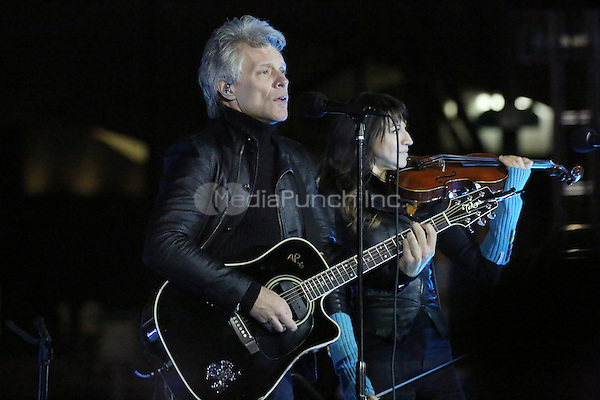 PHILADELPHIA, PA - NOVEMBER 7: Jon Bon Jovi at the GOTV Rally in support of Hillary Clinton for President at Independence Mall in Philadelphia, Pennsylvania on November 7, 2016. Credit: Star Shooter/MediaPunch