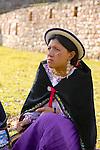 Ecuadorian Woman At Machu Picchu