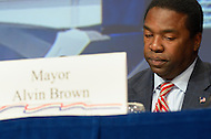 January 19, 2012  (Washington, DC)  Jacksonville, FL, Mayor Alvin Brown at the US Conference of Mayors 80th Annual Winter Meeting, at the Capitol Hilton in Washington.  (Photo by Don Baxter/Media Images International)