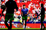 Antonio Sanabria of Real Betis warming up during the La Liga 2018-19 match between Atletico de Madrid and Real Betis at Wanda Metropolitano Stadium on October 07 2018 in Madrid, Spain. Photo by Diego Souto / Power Sport Images