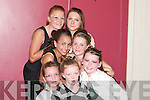 CONFIDENCE: Building confidence at the Joanne Barry Dance School at the Earl of Desmond Hotel, Tralee, on Sunday were: Jodie O'Donnell, Jessica Keane, Hayley Doyle, Moneeka Tanner, Aisling O'Rourke, Claire O'Brien and Danielle Healy..