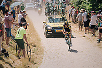 Antwan Tolhoek (NED/LottoNL-Jumbo) on pav&eacute; sector #14<br /> <br /> Stage 9: Arras Citadelle &gt; Roubaix (154km)<br /> <br /> 105th Tour de France 2018<br /> &copy;kramon