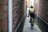 Lars Boom (NED/Lotto Jumbo) returning to the teambus through a small alley behind the finish line. <br /> <br /> Binckbank Tour 2017 (UCI World Tour)<br /> Stage 7: Essen (BE) &gt; Geraardsbergen (BE) 191km