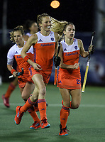 during the World Hockey League match between the Netherlands and the USA. North Harbour Hockey Stadium, Auckland, New Zealand. Saturday 18 November 2017. Photo:Simon Watts / www.bwmedia.co.nz