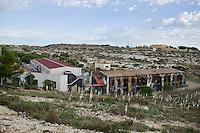 Il centro di prima accoglienza di Lampedusa andato a fuoco il 20 Settembre del 2011.
