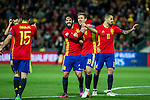Spain's Dani Carvajal Isco Nacho Monreal  during the match of European qualifying round between Spain and Macedonia at Nuevo Los Carmenes Stadium in Granada, Spain. November 12, 2016. (ALTERPHOTOS/Rodrigo Jimenez)