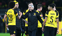 Fussball, Bundesliga, Deutschland, Herren, Saison 2018/2019, 17. Spieltag, Signal Iduna Park Dortmund: Bor. Dortmund, BVB (gelb) - Bor. M&circ;nchengladbach (weiss) 2:1; Schlussjubel Axel Witsel (BVB), Cheftrainer Lucien Favre (BVB). Jubel, Freude, Aktion. DFL REGULATIONS PROHIBIT ANY USE OF PHOTOGRAPHS AS IMAGE SEQUENCES AND/OR QUASI-VIDEO. *** Soccer Bundesliga Germany Men Season 2018 2019 17 Matchday Signal Iduna Park Dortmund Bor Dortmund BVB yellow Bor M&circ;nchengladbach white 2 1 Final Celebration Axel Witsel BVB Head Coach Lucien Favre BVB Jubel Freude Aktion DFL REGULATIONS PROHIBIT ANY USE OF PHOTOGRAPHS AS IMAGE SEQUENCES AND OR QUASI VIDEO  <br /> Foto Imago/Insidefoto