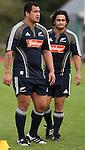 All Blacks John Schwalger (left) and Piri Weepu.