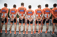 pre-race Team CCC presentation<br /> <br /> Brussels Cycling Classic 2016