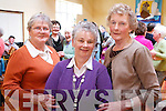 Sarah Heffernan, Rene O'Brien and Mary Fitzgerald at the Active Retirement Open Day at Saint Brendan's Pastoral Centre on Wednesday.