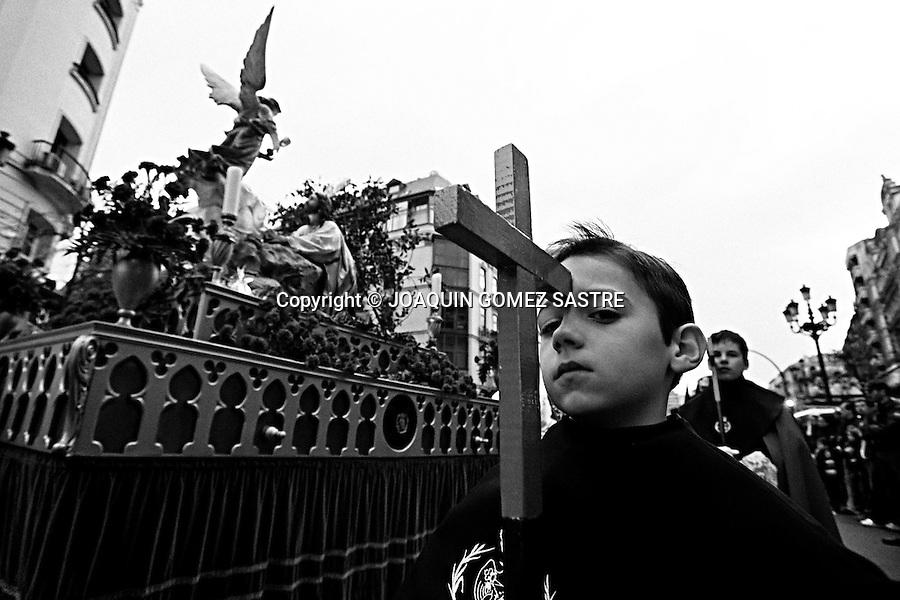 2 ABRIL 2010 SANTANDER .Procesion de semana Santa correspondiente al viernes Santo.foto © JOAQUIN GOMEZ SASTRE