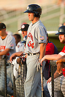 Bryce Harper #34 of the Hagerstown Suns waits for his turn to bat against the Kannapolis Intimidators at Fieldcrest Cannon Stadium on May 31, 2011 in Kannapolis, North Carolina.   Photo by Brian Westerholt / Four Seam Images