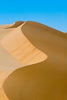 Sand dunes near Uhm al Maa lake in the Ubari Desert, Libya