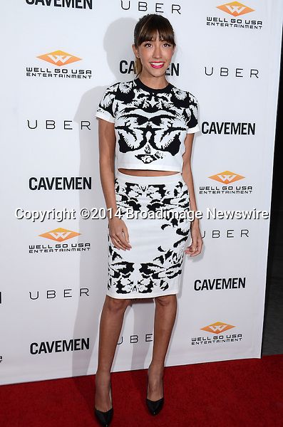 Pictured: Fernanda Romero<br /> Mandatory Credit: Luiz Martinez / Broadimage<br /> CAVEMAN Los Angeles Premiere<br /> <br /> 2/5/14, Hollywood, California, United States of America<br /> Reference: 020514_LMLA_BDG_075<br /> <br /> sales@broadimage.com<br /> Bus: (310) 301-1027<br /> Fax: (646) 827-9134<br /> http://www.broadimage.com