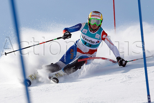 29.01.2012.  Ski Alpine FIS WC St Moritz Super Combination women  Ski Alpine FIS World Cup Super combination for women Slalom Picture shows Denise Feierabend SUI