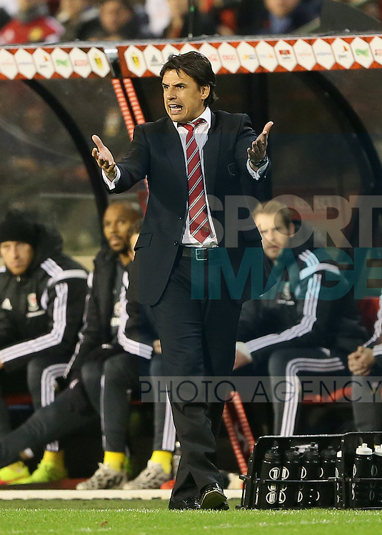 Wales' Chris Coleman in action<br /> <br /> - European Qualifier - Belgium vs Wales- Heysel Stadium - Brussels - Belgium - 16th November 2014  - Picture David Klein/Sportimage