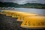 Boats on Lake Motosuko, Mt. Fuji, Japan