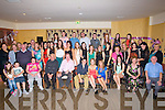 KEY OF THE DOOR: On Saturday night in the White Sands Hotel Ballyheigue many of Niamh' Guerin's family and friends gathered to celebrate her 21st birthday. (niamh is seated 6th from r and from Ballyheigue).