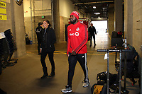 SEATTLE, WA - NOVEMBER 9: Jozy Altidore #17 of Toronto FC walks to the field at CenturyLink Field on November 9, 2019 in Seattle, Washington.