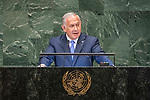 LOS general debate – 27 September<br /> <br /> PM<br /> <br />  His Excellency Benjamin Netanyahu, Prime Minister, State of Israel