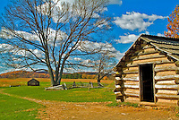 Log Cabin Encampment Historic Valley Forge Pa, Pennsylvania, National Historical Park,
