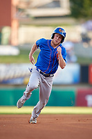 Midland RockHounds designated hitter Brett Vertigan (17) runs the bases during a game against the Arkansas Travelers on May 25, 2017 at Dickey-Stephens Park in Little Rock, Arkansas.  Midland defeated Arkansas 8-1.  (Mike Janes/Four Seam Images)