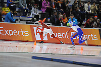 SPEED SKATING: CALGARY: Olympic Oval, 08-03-2015, ISU World Championships Allround, Denni Morrison (CAN), Denis Yuskov (RUS), ©foto Martin de Jong