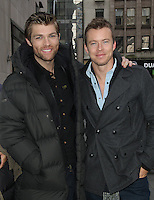 NEW YORK, NY - JANUARY 29: Liam McIntyre and Todd Lasance at NBC's  Today Show in New York City. January 29, 2013. Credit: RW/MediaPunch Inc. /NortePhoto