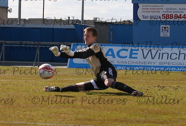 Daniel Twardzik in the Aberdeen v St Mirren Clydesdale Bank Scottish Premier League Under 20 match played at Balmoor Stadium, Peterhead on 19.4.13.