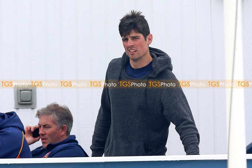 Alastair Cook of Essex looks on from the balcony during Essex CCC vs Durham MCCU, English MCC University Match Cricket at The Cloudfm County Ground on 4th April 2017