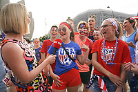 PARIS, FRANCE - JUNE 28: Fans, CNN prior to a 2019 FIFA Women's World Cup France quarter-final match between France and the United States at Parc des Princes on June 28, 2019 in Paris, France.