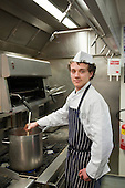 Tyrone, apprentice cook at the Holiday Inn hotel, Bloomsbury.