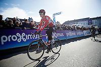 Tiesj Benoot (BEL/Lotto-Soudal) to the start<br /> <br /> Omloop Het Nieuwsblad 2015