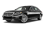 Stock pictures of low aggressive front three quarter view of 2016 Mercedes Benz S-Class S550-PLUG-IN-HYBRID 4 Door Sedan Low Aggressive