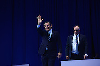 National Harbor, MD - February 23, 2017: U.S. Senator Ted Cruz waves at the audience as he enters the Potomac Ballroom at the Conservative Political Action Conference at the Gaylord Hotel in National Harbor, MD, February 23, 2017.  (Photo by Don Baxter/Media Images International)