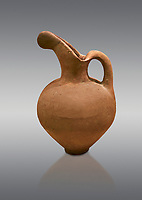 Hittite long neck beak spout pitcher. Hittite Old Period, 1650 - 1450 BC. Huseyindede. Çorum Archaeological Museum, Corum, Turkey