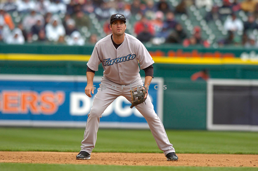 TROY GLAUS, of the Toronto Blue Jays during their game against the  Detroit Tigers, on April 4, 2007 in Detroit, Michigan...Tigers win 10-9....DAVID DUROCHIK / SPORTPICS