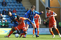 Anthony Grant of Shrewsbury is fouled by Gillingham's Graham Burke during Gillingham vs Shrewsbury Town, Sky Bet EFL League 1 Football at The Medway Priestfield Stadium on 13th April 2019