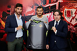 during his Official presentation as new player of Rayo Vallecano at Ciudad Deportiva Rayo Vallecano in Madrid, Spain. September 11, 2018. (ALTERPHOTOS/A. Perez Meca)